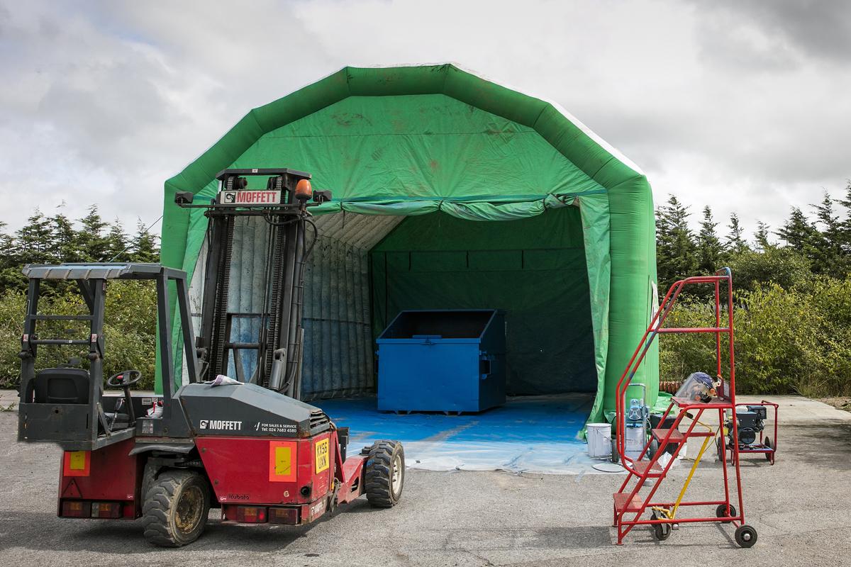 FEL Bin In Mobile Tent For Refurb