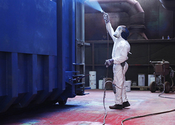 Spray Painting RORO Bulk