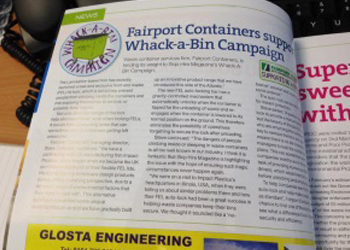 Whack a Bin Campaign Article