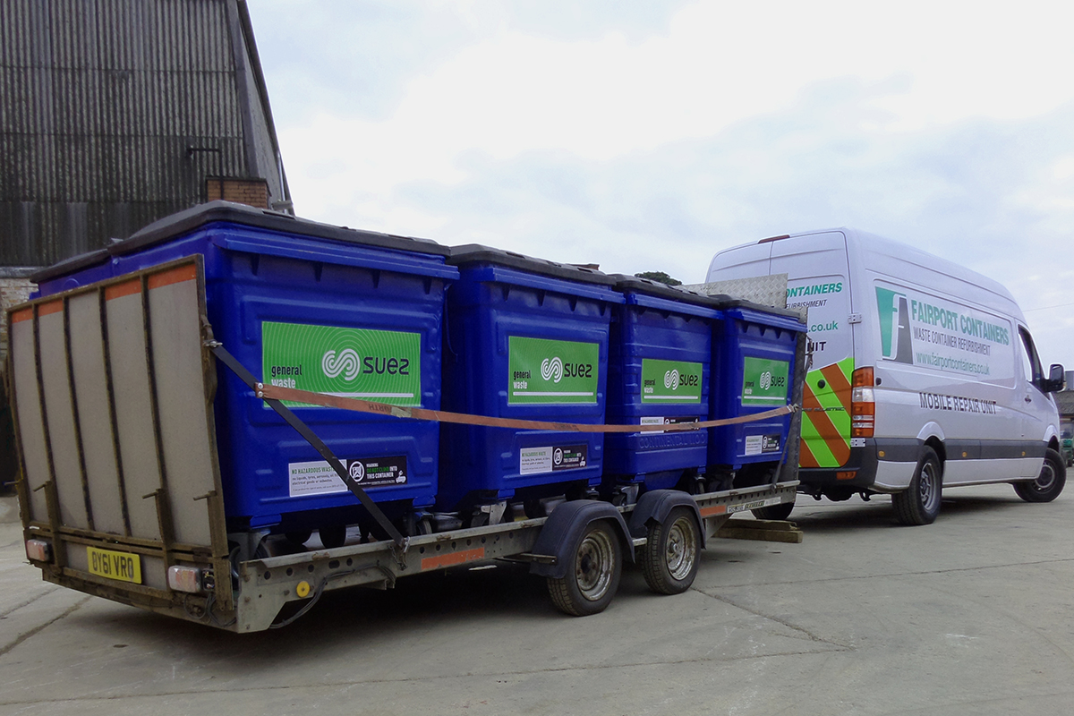 Rebranded Trade Waste on Flat Trailer